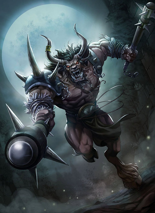 Deviant Art: one of many Minotaurs
